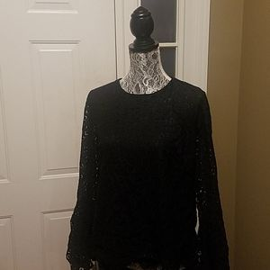 Mossimo Black Lace Top